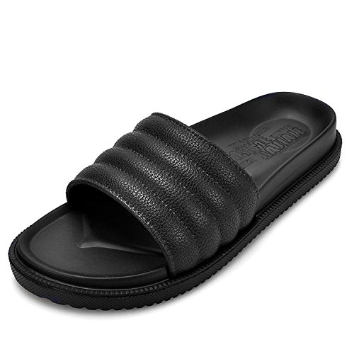 f7e94a8c0fff Earsoon Slides for Men Sandals Slippers - 2018 Style First House Slippers  Leather Anti-Slip