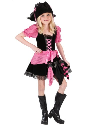 Pink Punk Pirate Kids Costume -