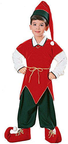 Children039;s Velvet Elf Suit Costume - Medium (Velvet Elf Suit Costume)
