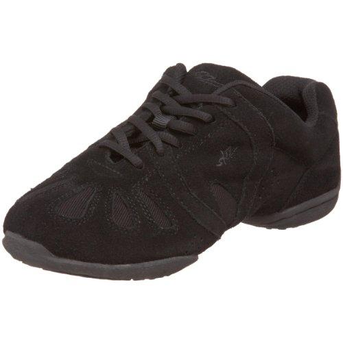 (SANSHA Dynamo Dance Sneaker,Black/Black,7 (6 M US Women's) )