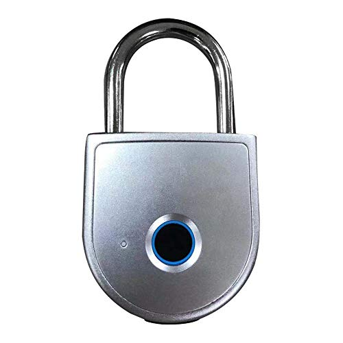 Smart Fingerprint Padlock Waterproof Lock APP Control Security Anti-Theft Padlock 15 Sets Of Fingerprints Waterproof Rustproof USB Charging Padlock With Keyless Biometric For Gym Sports Cabinet Garage