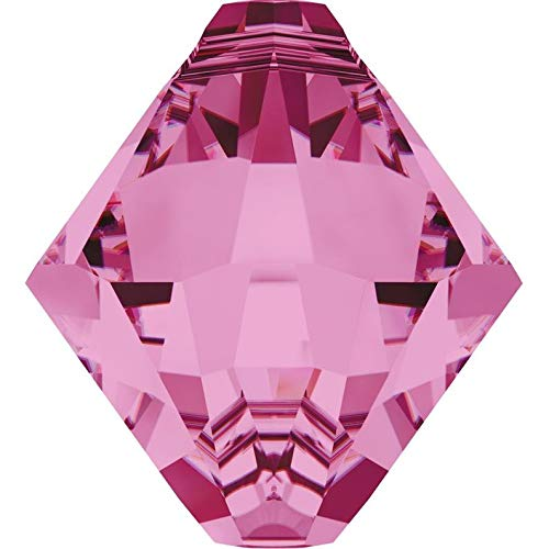 Jewelry Making Supplies - Swarovski Crystal Bicone Pendants 6301/6328-8mm - Rose - Perfect and Stunning Beads