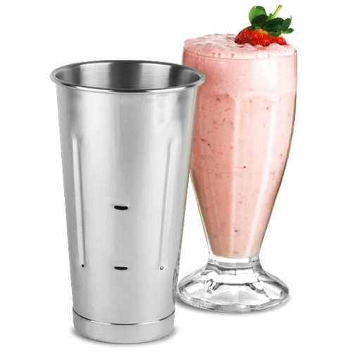 Checkout (24 Pcs.) 30 Oz. SafePro Malt Cup Stainless Steel Milkshake Ice Cream Mixer Mixing Cup 24 PACK deliver