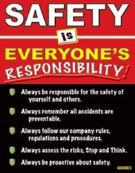 #1131A - Safety is Everyone's Responsibility Laminated Safety Poster, 18