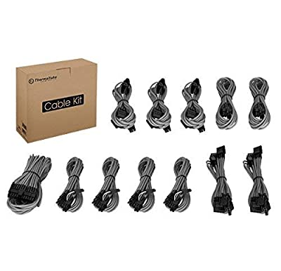 Thermaltake AC-032-CNONAN-PG Individually Sleeved Cable Kit - Gray