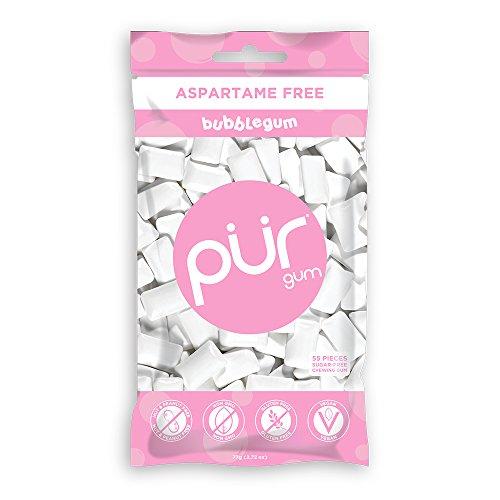 PUR Gum, Bubblegum, 55 pieces - Aspartame Free, Sugar Free, 100% Xylitol, Natural Chewing Gum, Non GMO, Vegan by...