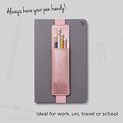 IF Bookaroo Pen Pouch Notebook/Pen Organiser Elasticated A5 Notebook - Rose Gold: 5035393407070: Office Products