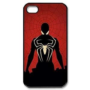 [Spider Man] Spider Man Superhero World Case for IPhone 4/4s, IPhone 4/4s Case {Black}