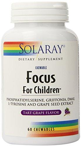Solaray Focus for Children Supplements, 60 Count