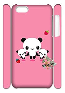 [Case forcolor]: Baby Panda Hard Case for iPhone 5C (3d).