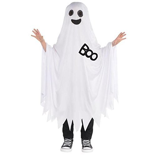 (AMSCAN Boo Ghost Halloween Costume for Kids, One)