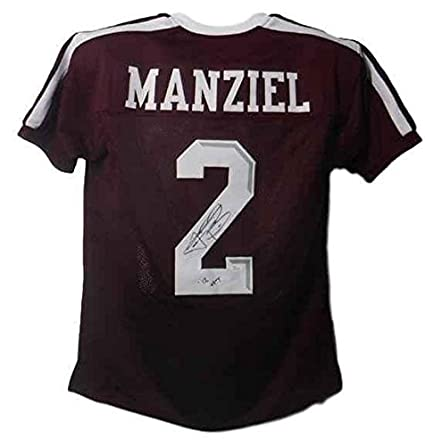 super popular 87bf9 44608 Johnny Manziel Autographed Texas A&m Aggies 13204 Red Size ...