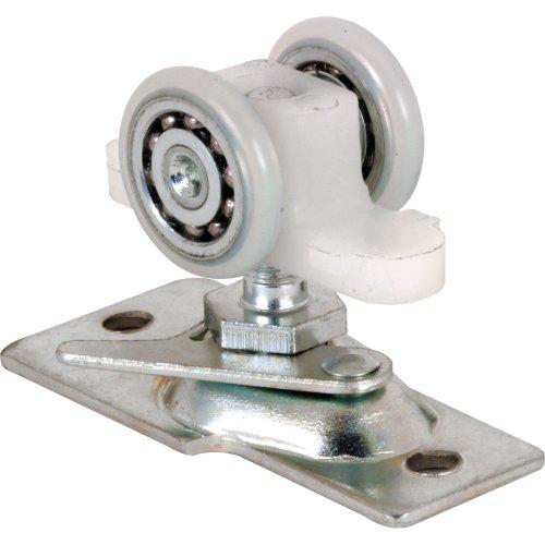 Prime-Line N 7065 Pocket Door Roller Assembly, 13/16 in., Convex, Plastic Tires, Steel Bracket & Ball Bearings ()
