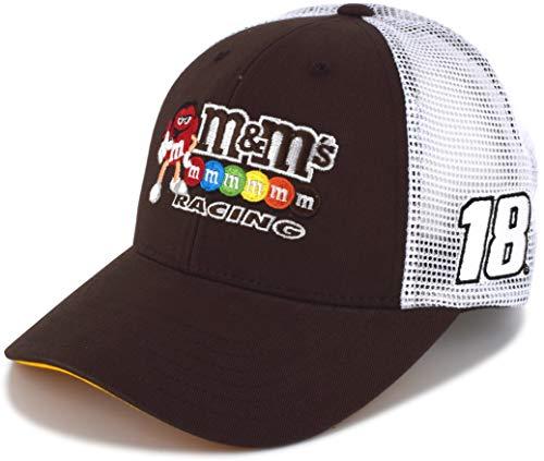 889402db Checkered Flag Kyle Busch 2019 Draft Mesh NASCAR Hat Brown, White