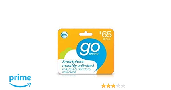 At&t Monthly Plan or Pay As You Go Refill Card $65 (Mail delivery)