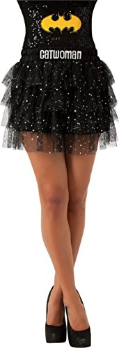 Heroes And Villains Womens Costumes (Rubie's Costume Women's DC Comics Superhero Style Skirt With Sequins, Multicolor, Standard)