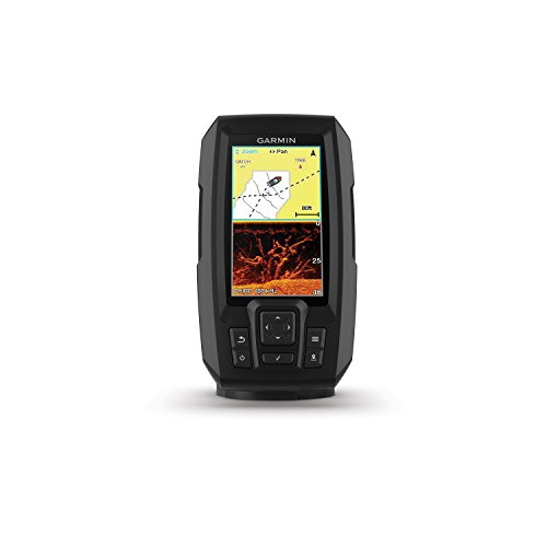 Garmin Striker 4cv with Transducer, 4' GPS Fishfinder with CHIRP Traditional and ClearVu Scanning Sonar Transducer and Built In Quickdraw Contours Mapping Software