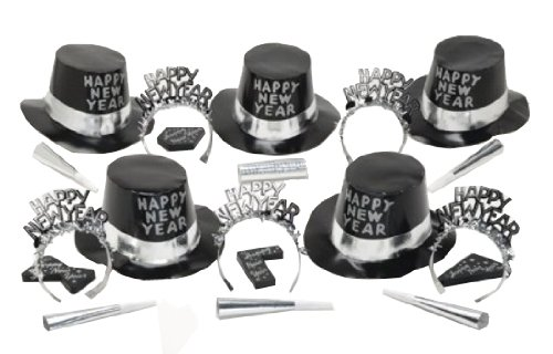 Creative Converting New Years Eve 2013 Party Box for 10, City Celebration Silver