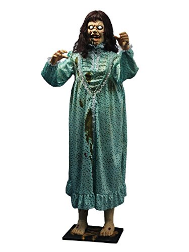 Morbid Enterprises The Exorcist Life Sized Animated Regan, Green/Brown/Cream/White/Red, One (Animatronic Halloween Costumes)