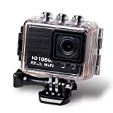 XIMKCOD 1080P HD Sports Camera 30M WIFI Sports DV 170 Degree Wide Lens Camera