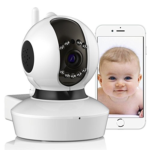 Home IP Camera Wireless Security Surveillance Dome Camera Baby Monitor with 720P HD Night Vision by YOOFOSS