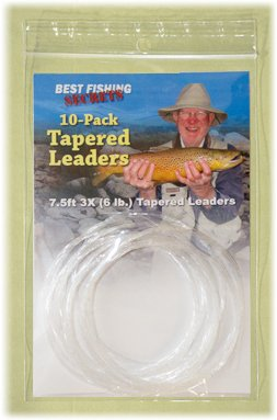 10-Pack 7.5ft 3X Knotless Tapered Leaders Review