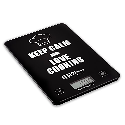 EZgoing Digital Kitchen and Food Scale. Tempered Glass Top. Slim Lightweight Weighing Scale. High Precision, Professional and Loved by All - Size Glasses I Get What Should