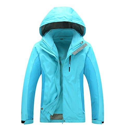 DYF Blue Coat Sky W Zipper Solid Long Windproof Sleeves Women Color JACKETS FYM Hat M Men Jacket 6q5n1