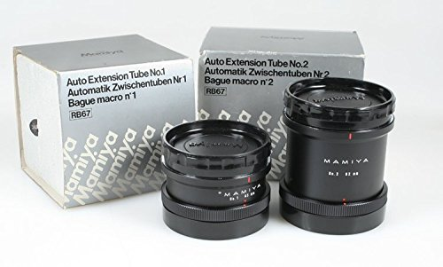 (MAMIYA RB67 LENS PRO S EXTENSION TUBES SPACERS NO.1 & NO.2 82MM & 45MM IN BOX)