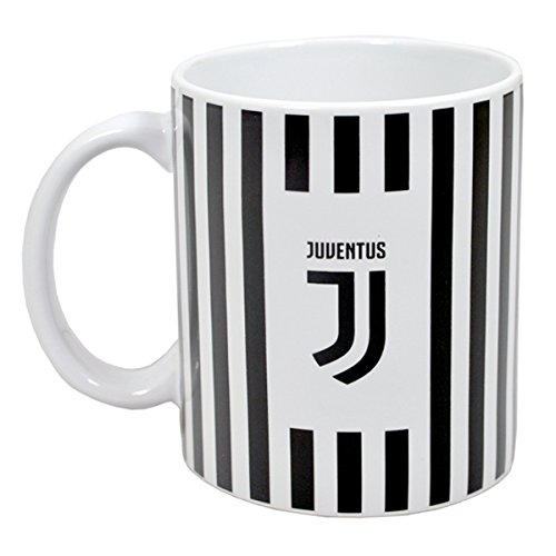 Official JUVENTUS New Crest black and white stripe ceramic mug