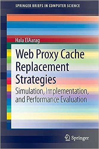 Amazon com: Web Proxy Cache Replacement Strategies