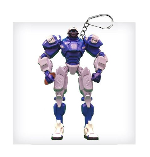"Detroit Lions 3"" Team Cleatus FOX Robot NFL Football Key Chain Version 2.0"