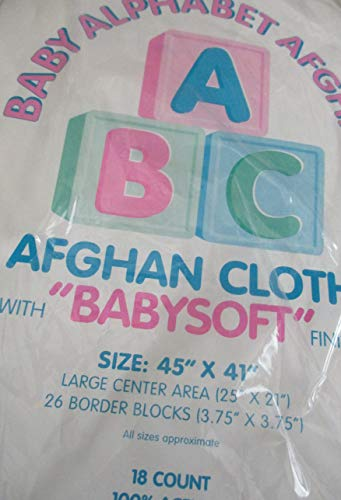 Charles Craft Afghan - Baby Alphabet Afghan with