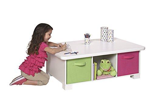 Amazon.com: ClosetMaid 1599 6 Cube Activity Storage Table, White: Home U0026  Kitchen