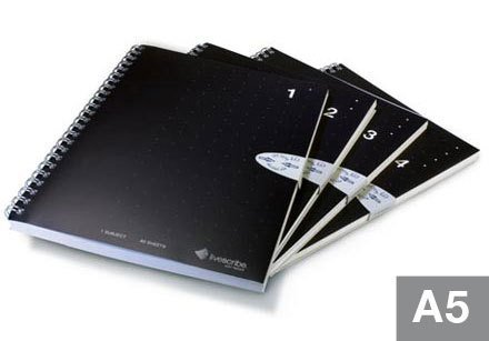 Livescribe ANX-00003-12 A5 Single Subject Notebooks by Livescribe