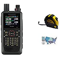 Bundle - 3 Items - Includes Kenwood TH-D74A 144/220/430MHz Tribander Digital Handheld w/ APRS & D-STAR with the New Radiowavz Antenna Tape (2m - 30m) and HAM Guides Quick Reference Card