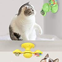 Pet Toy Interactive Cat Puzzle Training Rotary Table Ball Mill Rotating Tpy