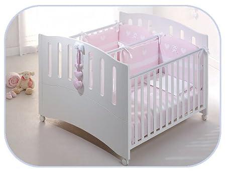 Zwillingsbettchen  Zwillingsbett Gemini Kinderbett für Zwillinge Buchenholz weiß ...