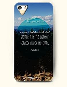 iPhone 5 5S Case OOFIT Phone Hard Case ** NEW ** Case with Design How Great Is God'S Love For All Of Us Greater Than The Distance Between Heaven And Earth Psalm 13:11Clengheartayou - Bible Verses - Case for Apple iPhone 5/5s