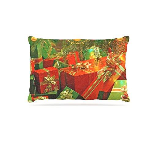 KESS InHouse Snap Studio Cheery Pattern Green Mint Dog Bed, 50  x 40