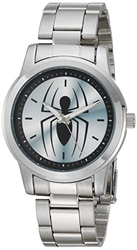Marvel Men's 'Spider-Man' Quartz Metal and Stainless Steel Casual Watch, Color:Silver-Toned (Model: WMA000209)