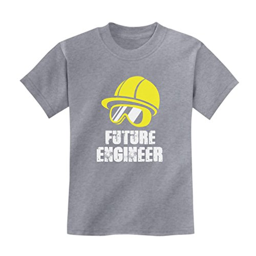 Engineer Short Sleeve T-shirt (TeeStars Future Engineer - Cool Children's Clothing Funny Kids T-Shirt X-Large Gray)