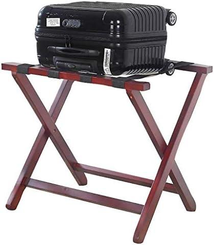 ZWH-ZWH 荷物は荷物スツール、62.8x47.5x57cmラックホテルソリッドウッド折りたたみルームラック 手荷物棚