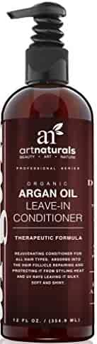 Art Naturals Organic Argan Oil Leave-in Conditioner for Hair Loss, 12 oz