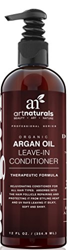 Art Naturals Organic Argan Oil Leave-in Conditioner for Dry  and Damaged Hair, 12 oz