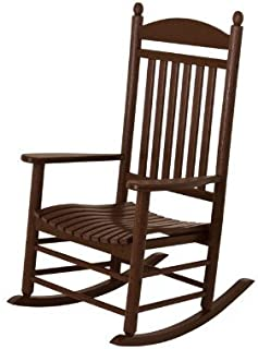 product image for POLYWOOD J147MA Jefferson Rocking Chair Rocker, 34D X 26.5W X 47H, Mahogany