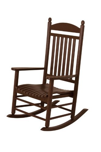 POLYWOOD Outdoor Furniture Jefferson Rocker, Mahogany-Recycled Plastic Materials