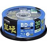 TDK 録画用ブルーレイディスク 超硬シリーズ BD-R 25GB 1-4倍速 プリンタブル 30枚入 BRV25HCPWB30PABK