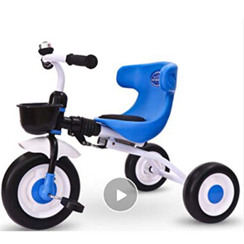 Balance Bike for Kids and Toddlers, No Pedal Sport Training Tricycle with Carbon Steel Frame, 132lbs Capacity for Ages 1 to 3 Years Old,Blue