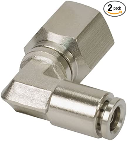 DOT Approved VIAIR 11454 x 1//8 NPT 2 Pack F to 1//4 Airline 90 Degree Swivel Elbow Fitting